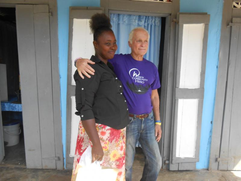 Dec. 2017 (Haiti) In front of her new home.