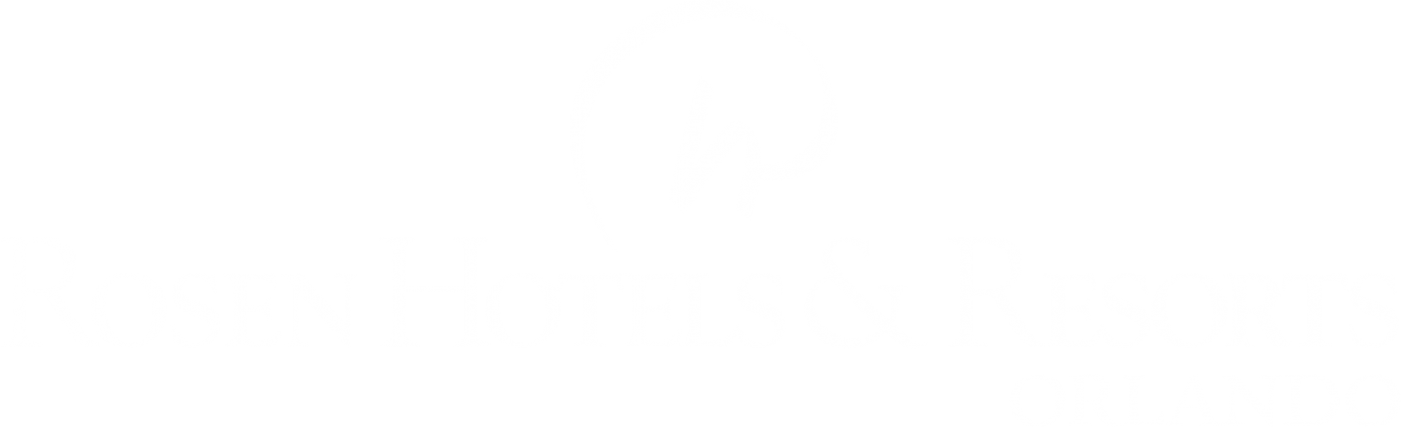 Rosen Hotels & Resorts Orlando logo (White)