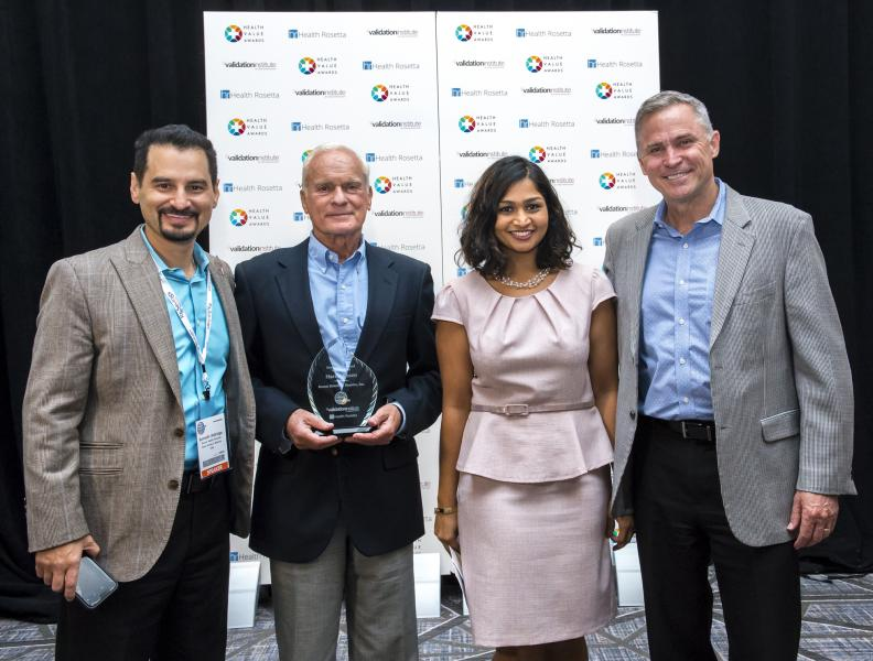 May 2, 2018 -- Executive members of the RosenCare team accept one of three awards recognizing Harris Rosen and his team's innovative healthcare plan.