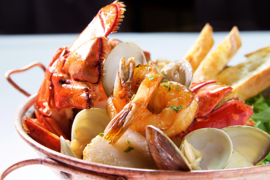 The AAA Four Diamond A Land Remembered mouth-watering Cataplana.