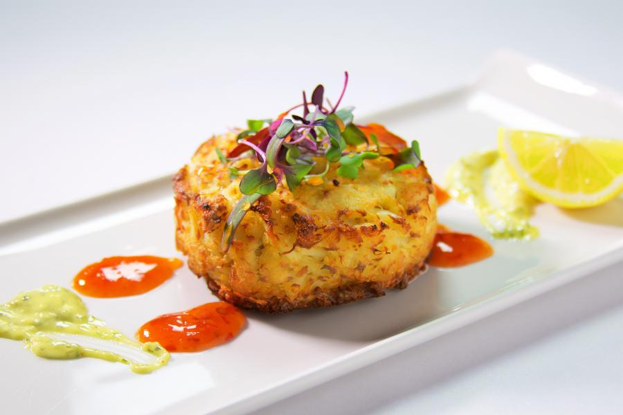 The AAA Four Diamond A Land Remembered Crab Cake.