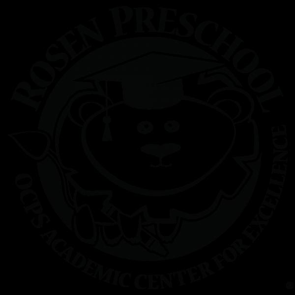 One-Color (Black) Rosen PreSchool Logo