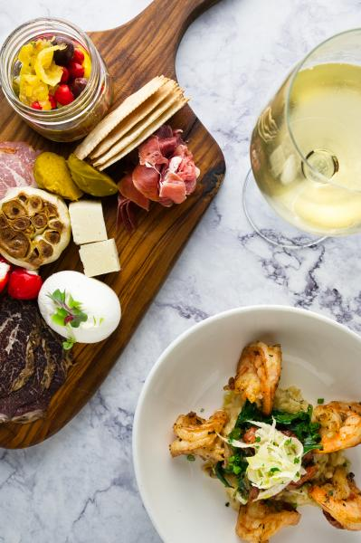 Cala Bella Antipasto and Shrimp Genova