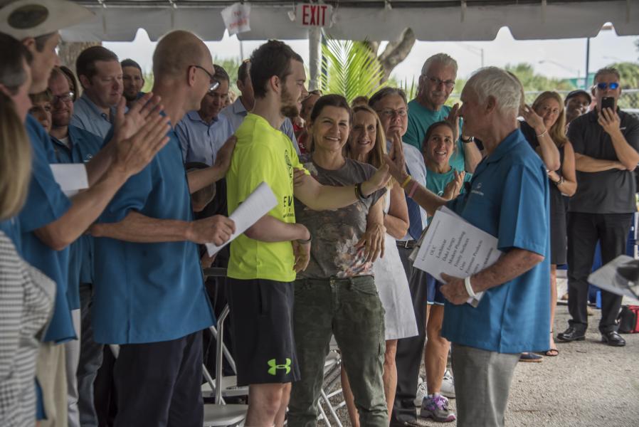 Rosen YMCA Aquatic Center Renaming Ceremony Adam and Harris Rosen