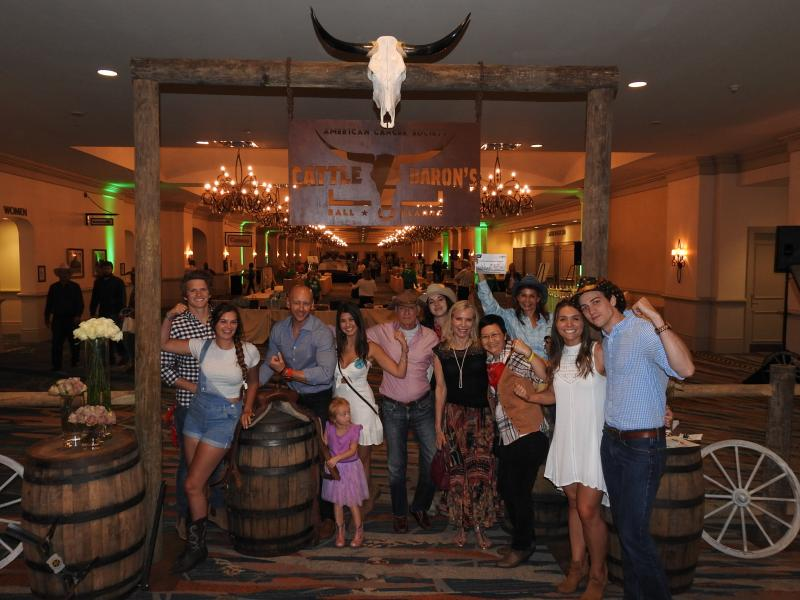 Rosen Group at American Cancer Society's Cattle Baron's Ball