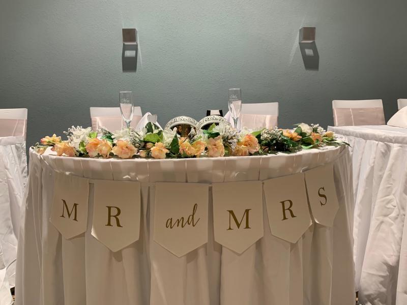 Wedding Party Table Settings Bella Vista