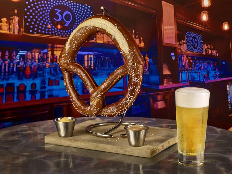 3NINE Giant Pretzel bar back drop