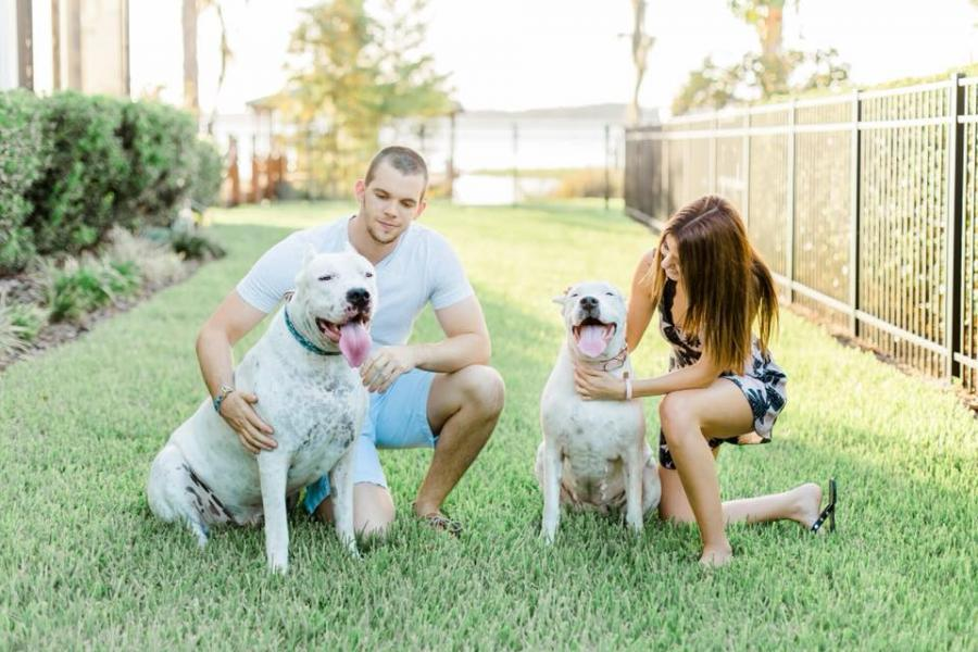 Adam Michael Rosen and Anael Cohen with Samson and Bella