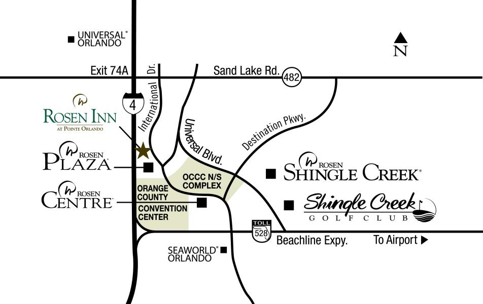 Convention Hotel Map Rosen Inn Pointe color