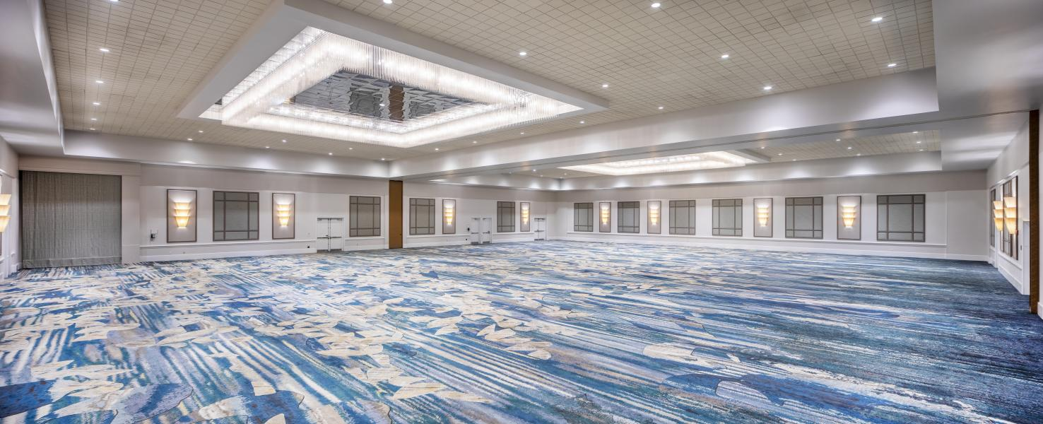 The 14,448 square-foot Junior Ballroom is one of three versatile ballrooms at Rosen Centre.