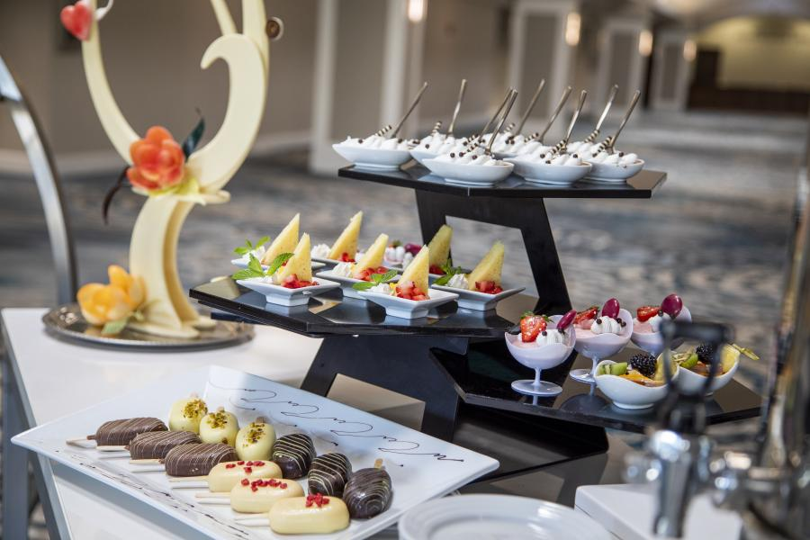 Salon Foyer with Desserts