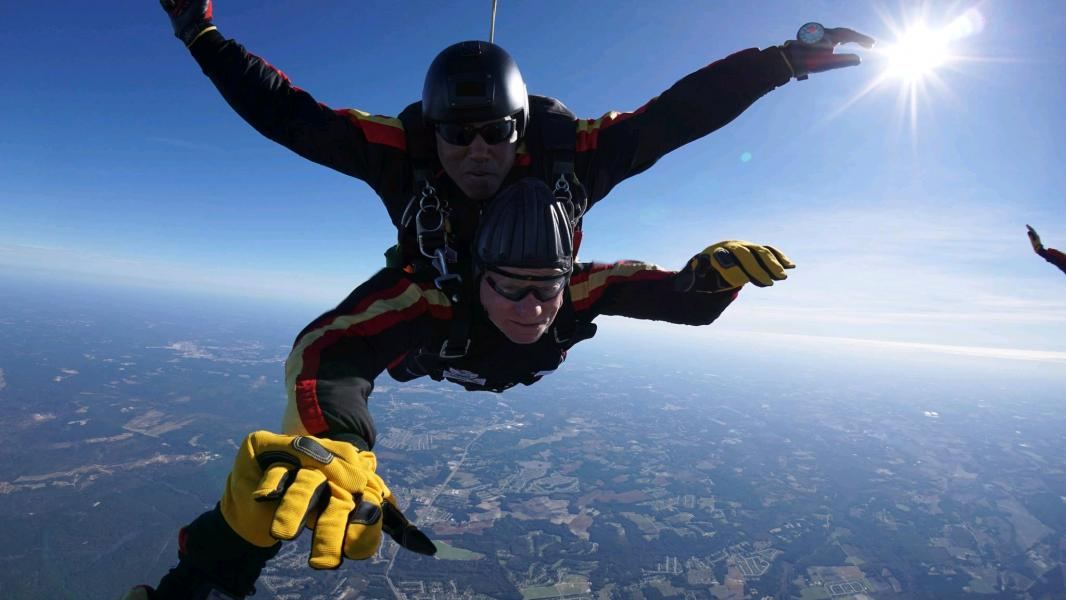 Oct. 26, 2019 --  Harris Rosen Skydiving at Ft. Bragg in North Carolina in Celebration of Adam Michael Rosen.