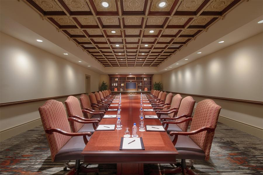 Rosen Shingle Creek's impressive boardroom, a stately meeting place for high-level business.