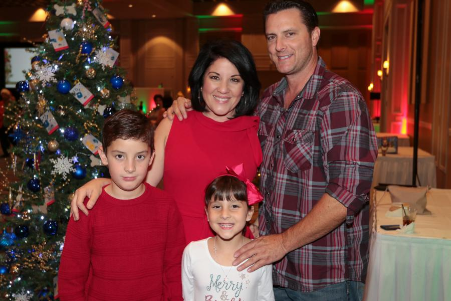 Dec. 6, Sock it to Cancer Event -- Emcee WFTV's Nancy Alvarez and family.