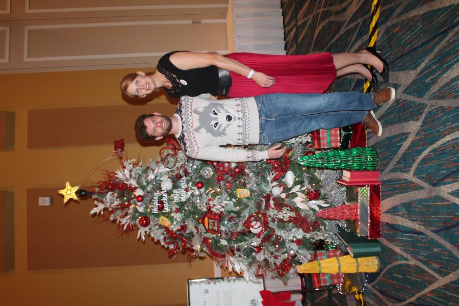 Dec. 6, Sock it to Cancer -- A Gift for Teaching was voted the best decorated tree of close to 30 trees to win $5,000 from the foundation.