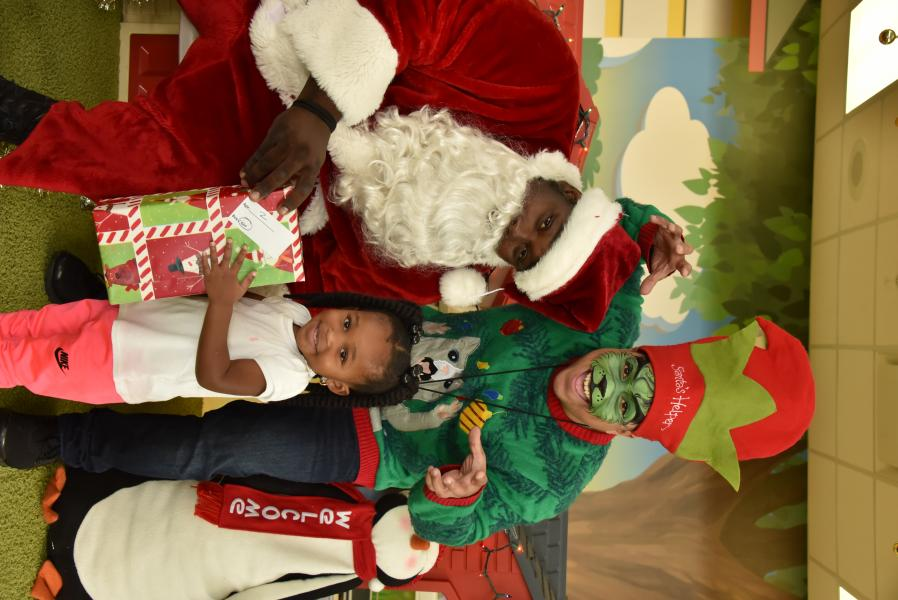 Dec., 2019 -- Generous donations from SiteOne's CSR activity at Rosen Shingle Creek brighten the faces of Rosen Parramore Preschool students.
