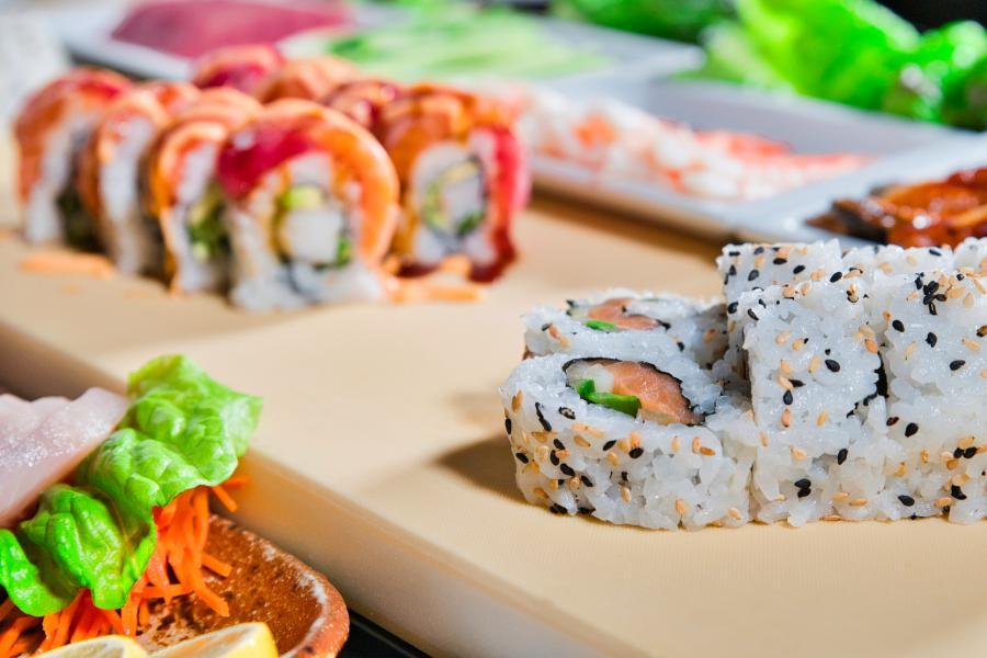 Shogun Sakura Sushi Close up