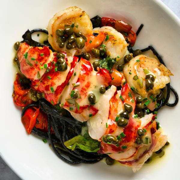 Cala Bella Squid Ink Pasta with Lobster and Shrimp 2