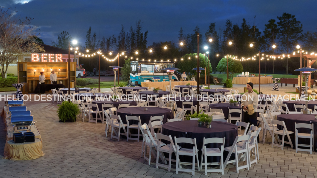 Food Truck Outdoor Event - Set Up by Hello! Destination Management