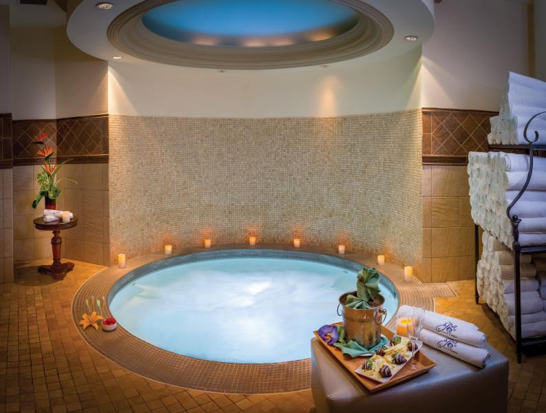 The Spa at Shingle Creek features a whirlpool in both the women's and men's relaxation lounges.